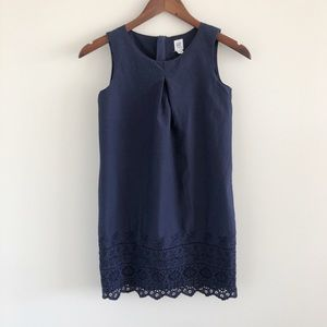 GAP Dresses - GAP Kids Navy Blue Eyelet Embroidered Cotton Dress